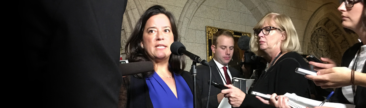 The Honourable Jody Wilson-Raybould, Minister of Justice and Attorney General of Canada