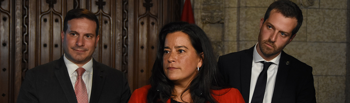 Left to right: Parliamentary Secretary to the Minister of Justice, Marco Mendicino; Minister of Justice and Attorney General of Canada, Jody Wilson-Raybould and Parliamentary Secretary to the Minister of Health, Joël Lightbound